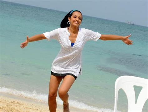 celebrity wallpapers and videos: Trisha at beach - latest