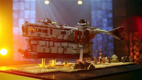 Inside Damian and Andrew's bounty hunter vehicle: Lego