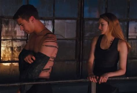 Shailene Woodley and Theo James Really Go For It in the