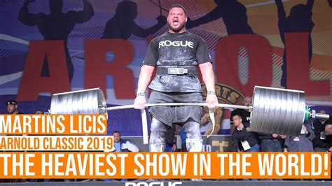 Martins Licis 2ND IN THE WORLD, at The Arnold Strongman