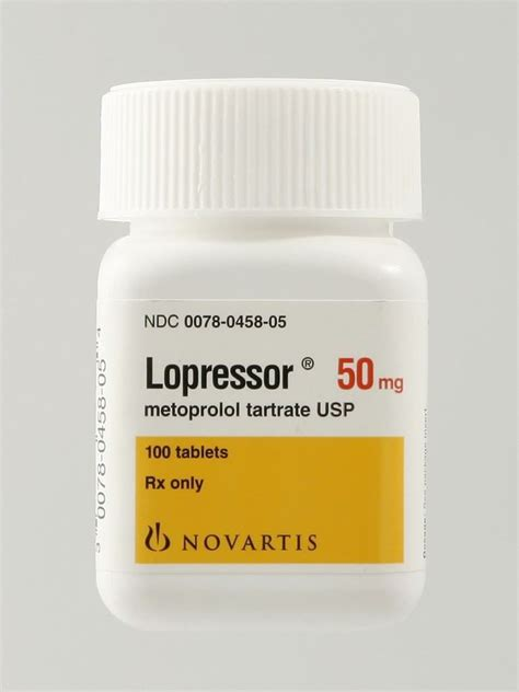 Lopressor, 50mg, 100 Tablets/Bottle   McGuff Medical Products