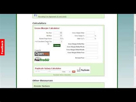 Free Gross Margin (Profit) Calculator for the Temporary