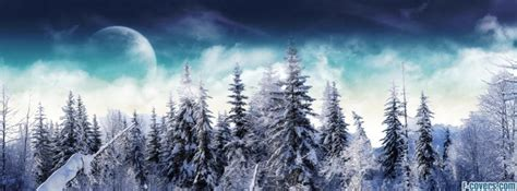 winter snowy forest Facebook Cover timeline photo banner
