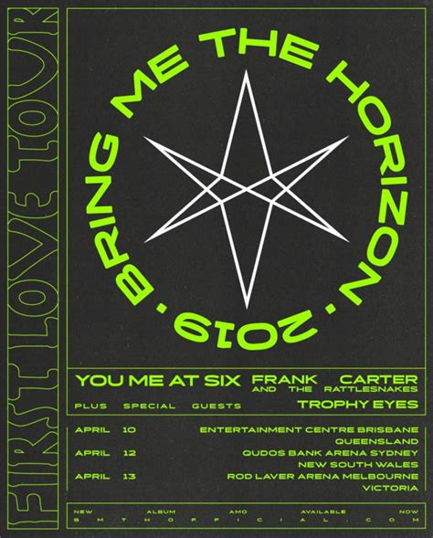 Bring Me The Horizon announce You Me At Six, Frank Carter